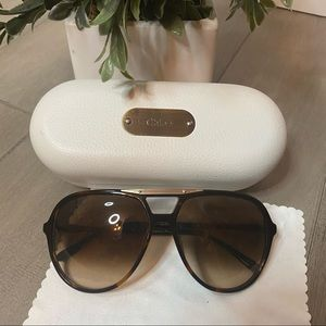 Chloe Sunglasses Brown with Case